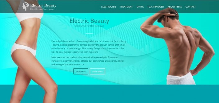 electric beauty one page website